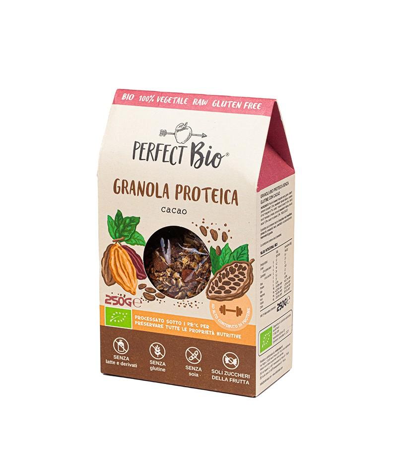 Granola proteica cacao - Ambrosiae - 250 g.