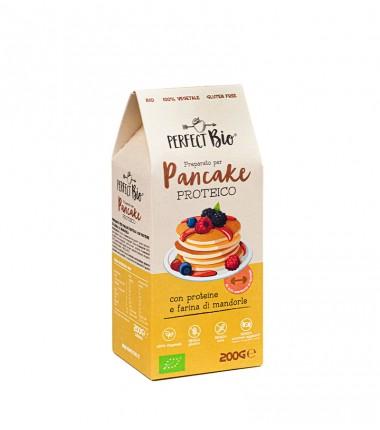 Pancake proteico con farina e proteine di mandorla - Perfect Bio - 200 g.