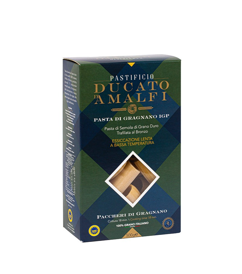 Paccheri di Gragnano di pasta artigianale di semola di grano duro - Ducato D'Amalfi - 500 g.