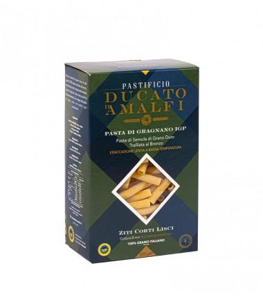 Ziti corti lisci di pasta artigianale di semola di grano duro - Ducato D'Amalfi - 500 g.
