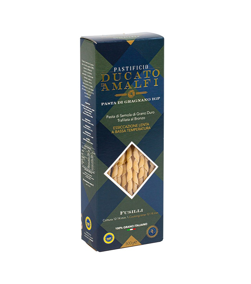 Fusilli di pasta artigianale di semola di grano duro - Ducato D'Amalfi - 500 g.