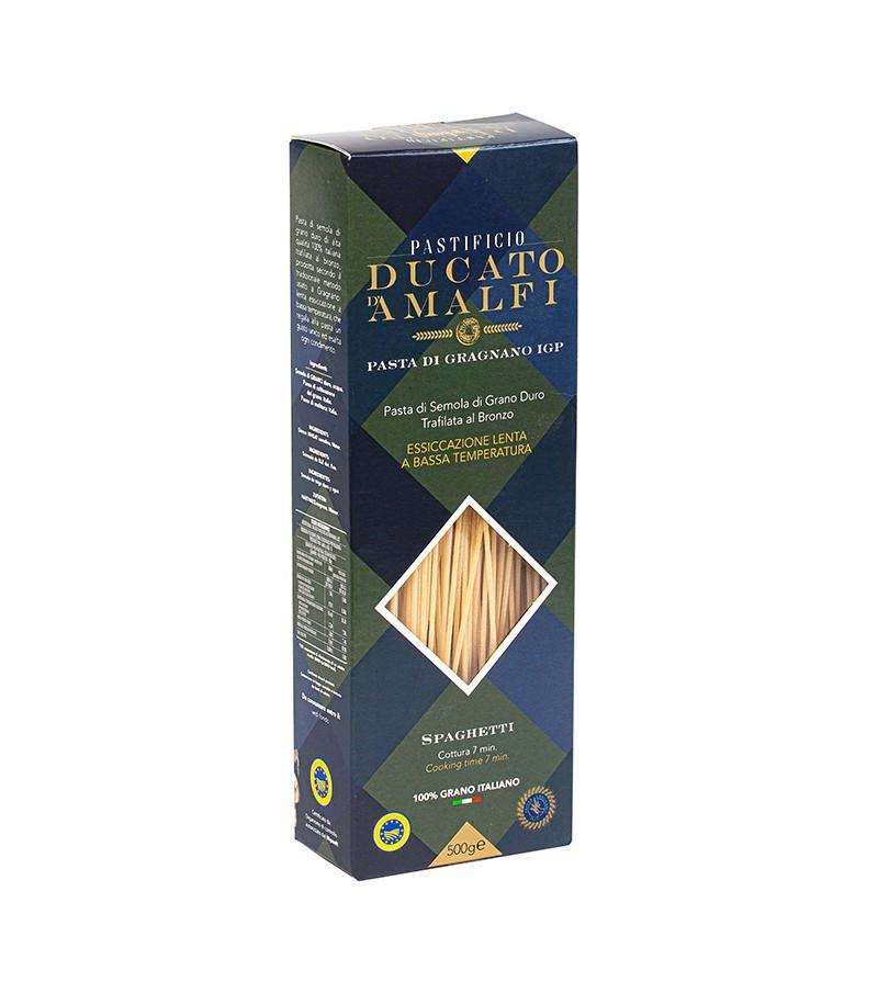 Spaghetti di pasta artigianale di semola di grano duro - Ducato D'Amalfi - 500 g.