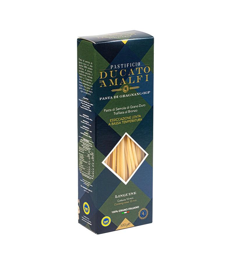 Linguine di pasta artigianale di semola di grano duro - Ducato D'Amalfi - 500 g.