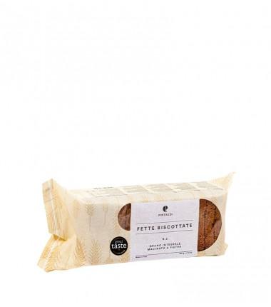 Fette Biscottate n. 2 con grano integrale macinato a pietra - Pintaudi - 200 g.