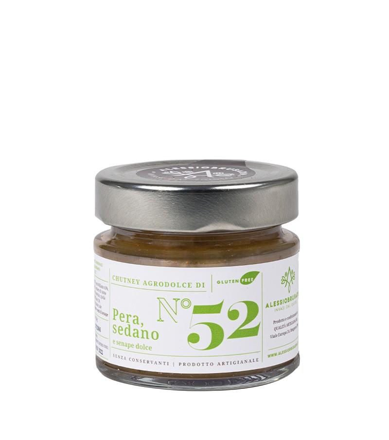 Chutney di pera williams, sedano e senape dolce - Alessio Brusadin - 150 g.
