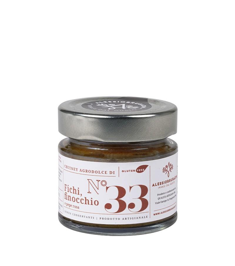 Chutney di fichi, finocchio e pepe rosa - Alessio Brusadin - 150 g.