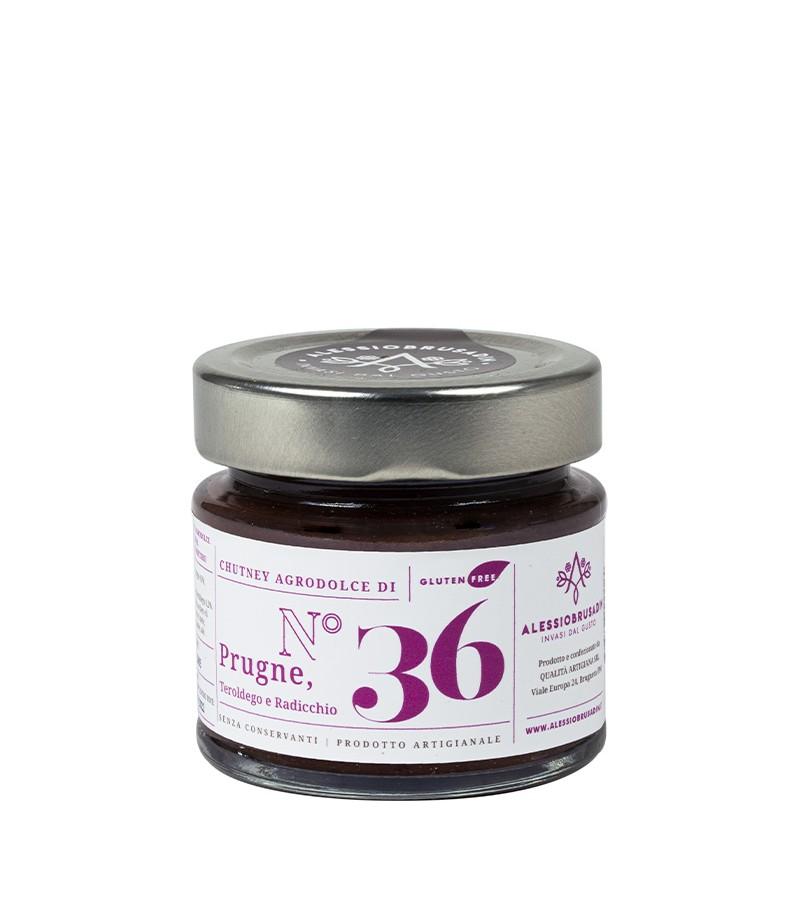 Chutney di prugne, radicchio e Teroldego - Alessio Brusadin - 150 g.