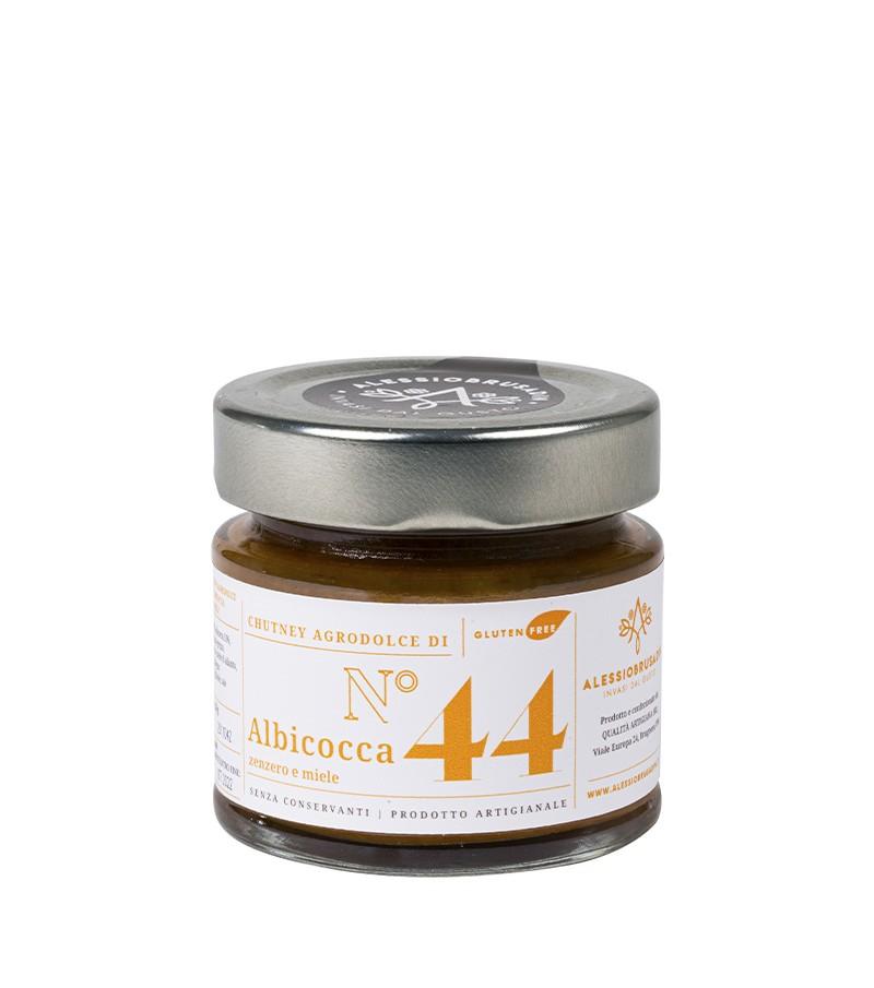 Chutney di albicocca, zenzero e miele - Alessio Brusadin - 150 g.