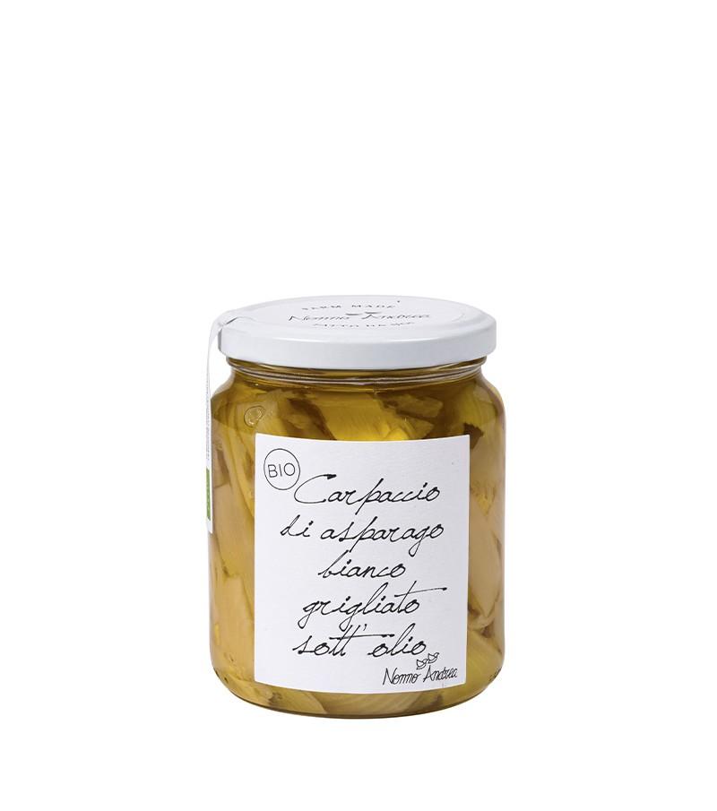 Carpaccio di asparago bianco grigliato sott'olio - Nonno Andrea - 390 g.