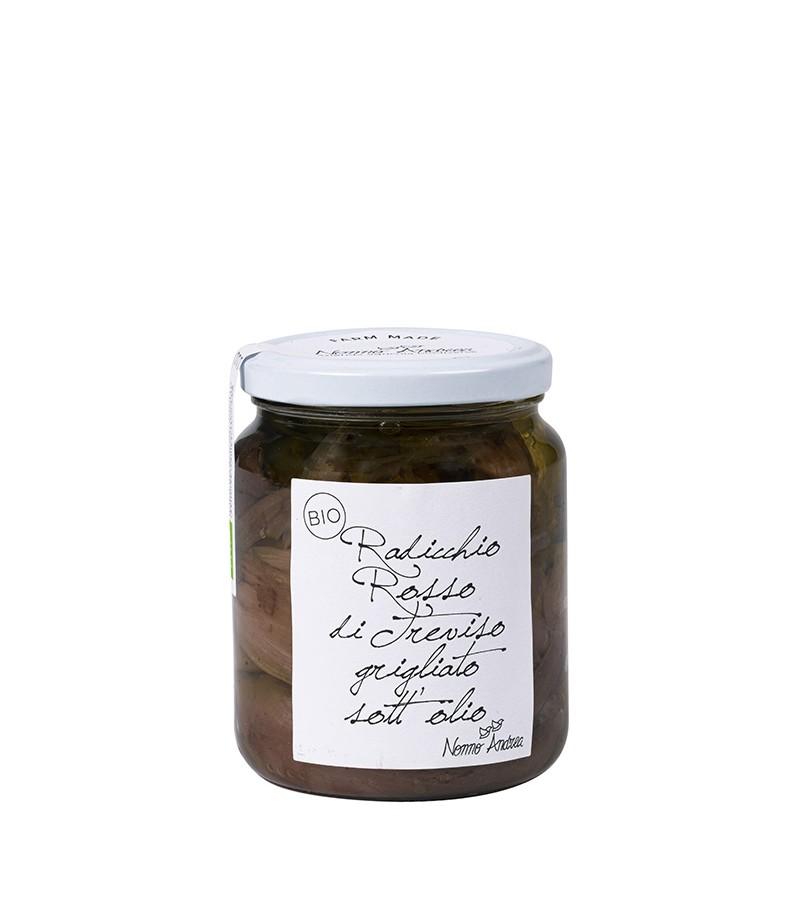 Radicchio rosso di Treviso grigliato sott'olio biologico - Nonno Andrea - 390 g.