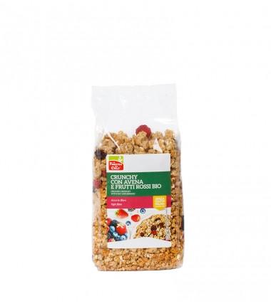 Crunchy con avena e frutti rossi bio -La finestra sul cielo - 375 g.