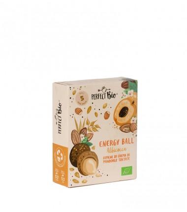 Energy ball albicocca ripiene di crema di mandorle tostate - Ambrosiae - 5 ball da 12 g.